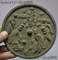 wedding decoration Collect Rare Old Chinese Classic figures god Statue Fengshui Bronze Mirrors