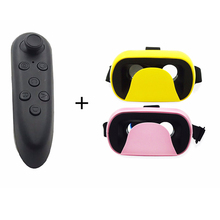 2016 Newest VR Glasses mini VR V6 Glasses Version Virtual Reality 3D Glasses + + Bluetooth Controller