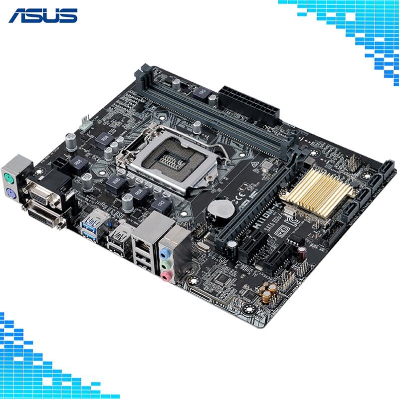 Asus H110M-K Desktop Motherboard Intel H110 Chipset Socket LGA 1151 Micro ATX asus h110m k desktop motherboard intel h110 chipset socket lga 1151 micro atx