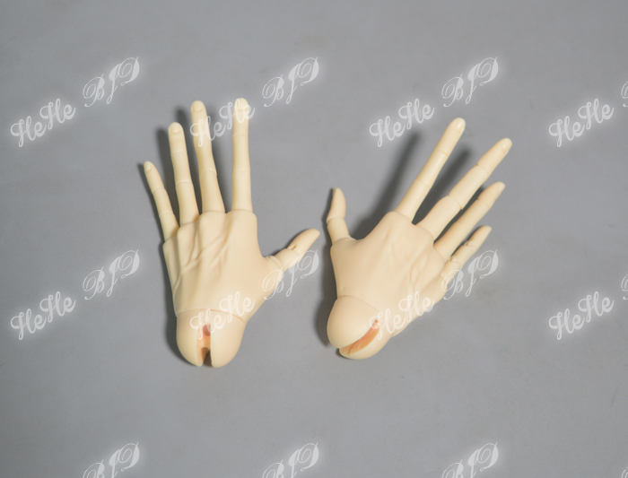 BJD jointed hands veins for 1 3 male Dolls 60cm 80 cm free shipping HeHeBJD