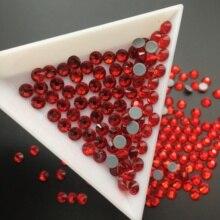SS6-SS30 Glass Crystal Light Siam Hot Fix Rhinstones Clear Flatback Iron-on Strass For Wedding Dress