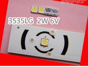 50PCS/Lot LG SMD LED 3535 6V Cold White 2W For TV/LCD Backlight