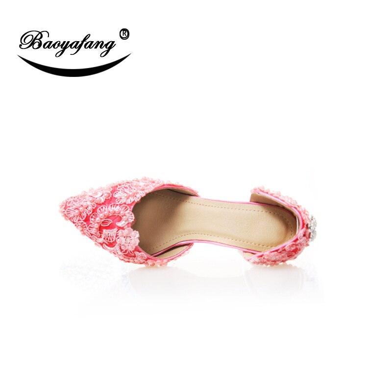 Rosa Baoyafang Cm Tacón Sandals 9 Las 9cm Moda De Zapato Verano Encaje Mujer Color Fino Mujeres Zapatos Boda Sandalias Nueva Mujer g0rwqBg
