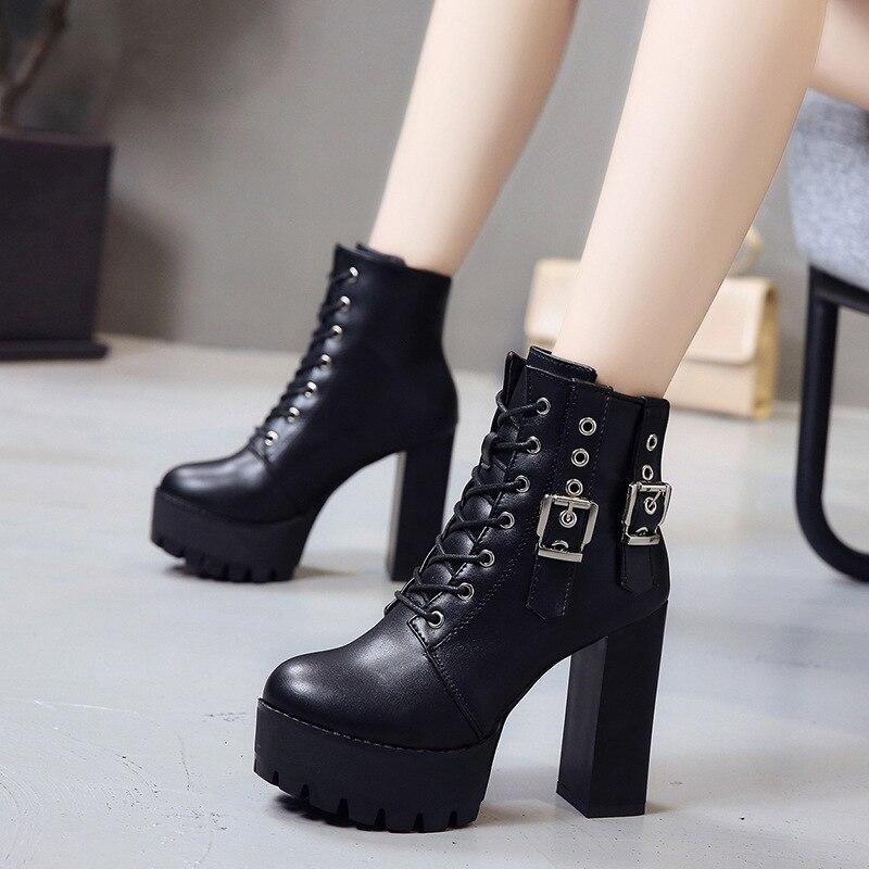 Souple Noir Cuir Cheville Partie Chaussures Hauts En Bottes uTlOiwPkXZ