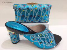 New Fashion African Sandal Women Shoe And Bag To Match For Parties Turquoise  Italian Shoes With Matching Bags High Heel YZ85 619726a2ae41