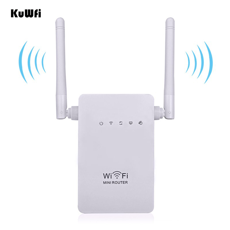 Image 3 - EEE802.11 b/g/n Standard 2.4Ghz 300Mbps Wireless Mini Router AP Repeater for wifi Signal Booster Support WPS 2*3dBi Antenna-in Wireless Routers from Computer & Office