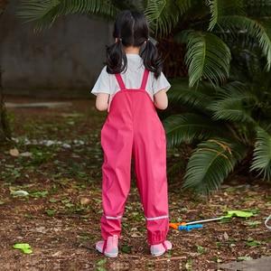 Image 2 - Rainกางเกงเด็กPUเด็กโดยรวมกันน้ำเด็กกางเกงสีเหลืองน้ำเงินเด็กวัยหัดเดินRomper 2020 Chidlren Jumpsuit 1 10 ปี