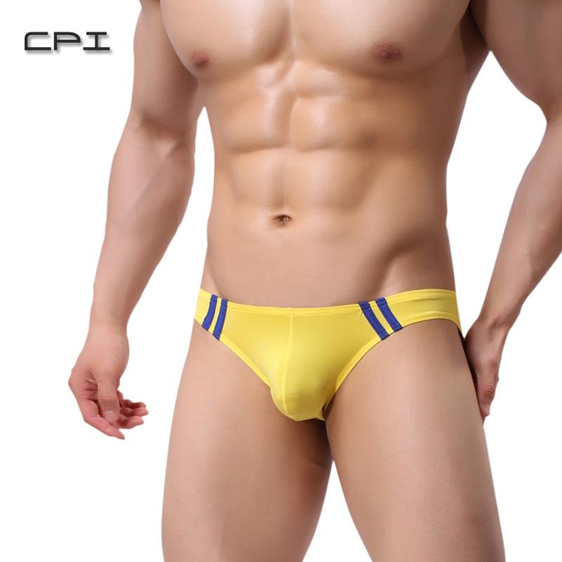 Buy Brand New Ice Silk Ultra-thin Transparent Mens Sexy Underwear Briefs Men Seamless Sexy Panties Pouch Bikini Erotic Underwear