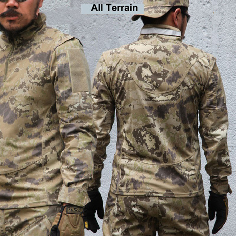65/35 Rip-Stop Army Combat Uniform Tactical Set US Army Military Uniform All Terrain Sand Move Camouflage Suit kryptek mandrake frog fighting suit police frog uniforms army trainning uniform set one long sleeve shirt and one tactical pant