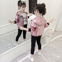 Toddler girl shining jacket size 6 zipper hoodie kid baseball baby bomber casual jacket little girl spring fashion princess 2019