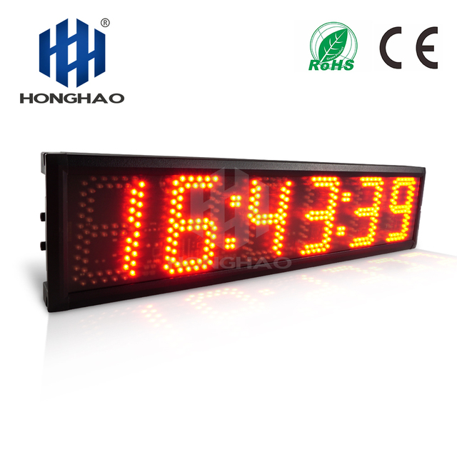 Honghao LED Countdown Timer Stopwatch for Race School Sports accept Custom