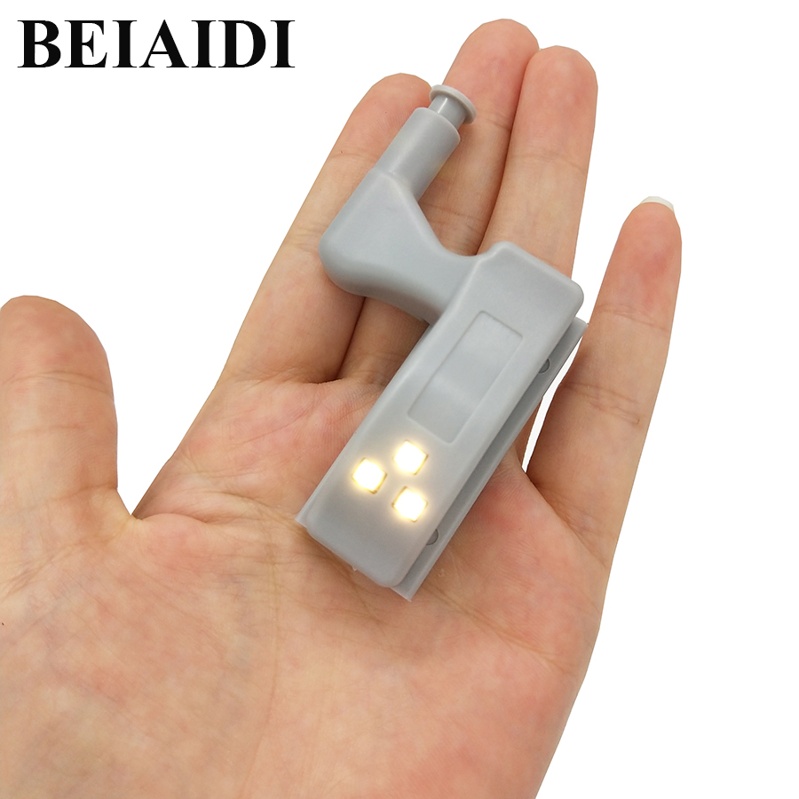 BEIAIDI Universal Inner Hinge Under Cabinet Lamp Cupboard Closet Wardrobe Cabinet Sensor Light Furniture Kitchen LED Night Light