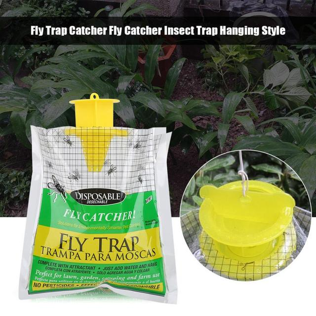 Fly Trap Catcher Bug Flies Mosquito Moth Insect Pest Control Products Disposable Plastic