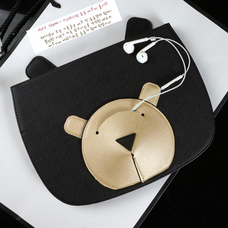 Case for iPad Air 2 New 2017 Original Cute Bear Smart Leather Bag Cover Case for iPad Air 1 Stand Wake&Sleep Luxury Female лопата штыковая brigadier 87011