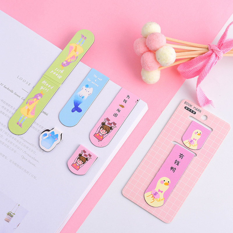 1PC Cute Magnet Bookmarks  Creative Animal Book Marks Kawaii Metal BookmarksFor Book Kids Gifts Novelty Stationery