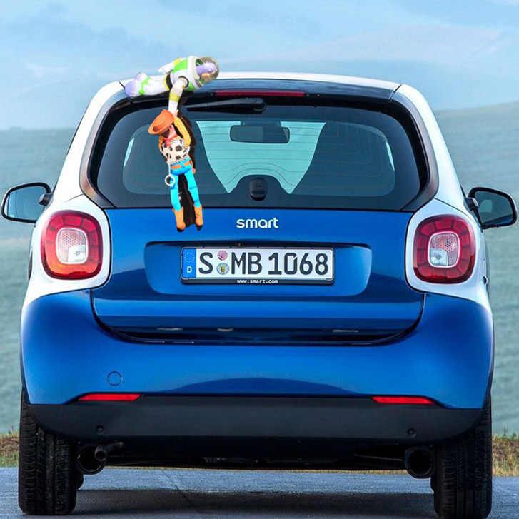 New Hot Toys Story Sherif Woody Buzz Lightyear Figura Bonecas Carro Fora Pendurar Brinquedos de Pelúcia Bonito Decoração Do Carro Auto 20 /35 CM