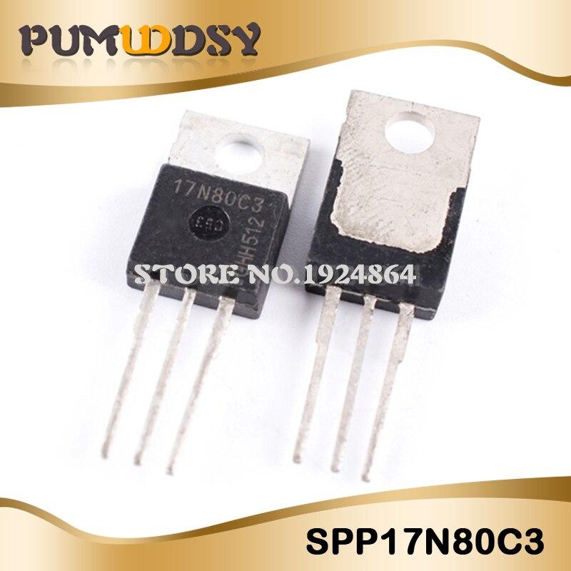 5PCS/LOT SPP17N80C3 17N80C3 TO-220 17A 800V FET IC