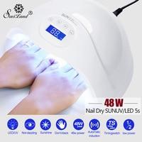 Saviland 48W LED Lamp UV Nail Lamp for Manicure Nail Dryer Curing Nail Art Gel Polish with 24Pcs Led Beads Automatic Sensor