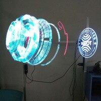 Светодио дный голографическая 3D вентилятор проектор Портативный голограмма плеер Уникальная Голограмма