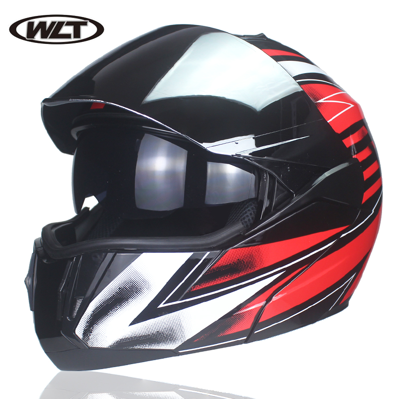 WLT-168 Dual Sun Visor Flip Motorcycle Helmet with Removable and Washable Cheek Pads Racing Modular Casco Capacete DOT