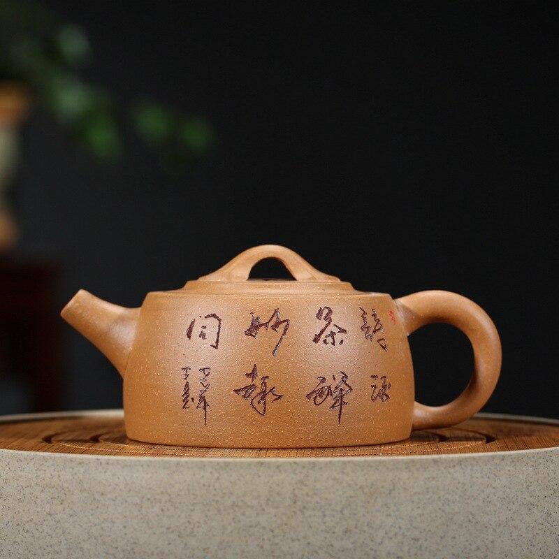 210 ml Yixing chine Zi ShaTeapot Jinglan thé ensemble vert lait Oolong thé fait à la main théière