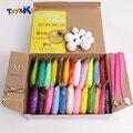 24 cores pérolas diy polymer modelagem barro set com ferramentas de ar-secas bom pacote fimo effect blocos brinquedos especiais presentes para as crianças