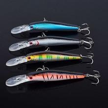 4 Pcs Minnow Vissen Lokken Crankbaits 125 mm 14g #4 Haak Bass Harde Aas Saltwater Visgerei Wobblers isca Kunstmatige Pesca