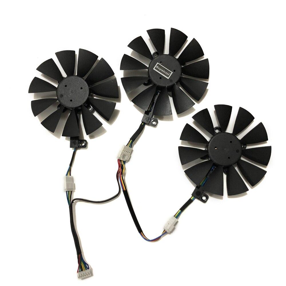 VGA Geforce GTX1080/1070 GPU Cooler Fan PLD09210S12HH/T129215SU for ASUS STRIX Raptor GTX1070 1080 graphics cards cooling