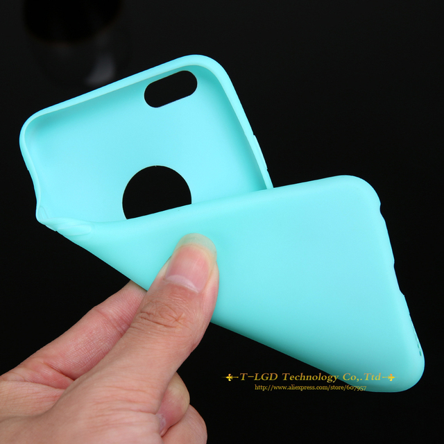 New Arrival Case For iPhone 6! Candy Colors Soft TPU Silicon Phone Cases For iPhone 6 6s 5 5s SE 7 7 Plus Coque Capa