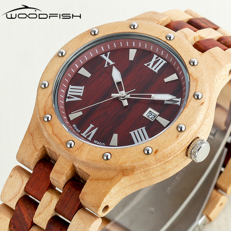 WOODFISH Wood Watch Mens Watches Top Brand Luxury Relogio Masculino Montres Homme Grande Marque De Luxe Horloges Mannen Gift men watches big oulm 9316b brand luxury design army japan movt quartz dz watch male sport montres de marque de luxe reloj hombre
