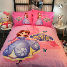 Pink Disney Sofia the First 3D Printed Bedding Bedspreads Bed Sets Single Twin Full Queen King Size Baby Girls Kids Childrens