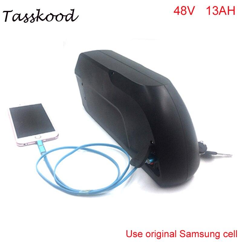 48 В 750 Вт samsung bafang bbs02 литий ионный Электрический велосипед батарея 48 В 13ah tigershark вниз трубки ebike батареи + 5 В USB + BMS