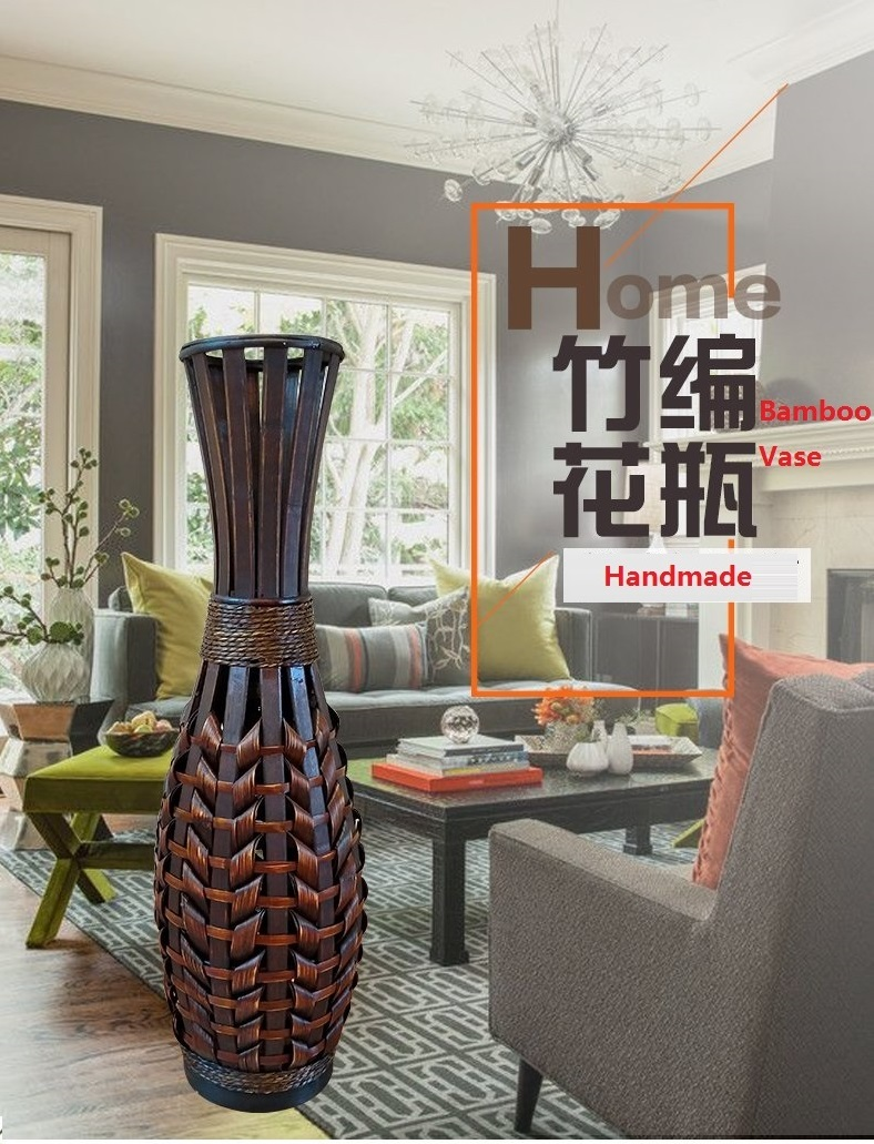 Us 62 29 11 Off Classic Large Floor Art Bamboo Vase Fashion Home Decor Craft Antique Imitate Flower Floor Vase For Living Room Decoration Craft In