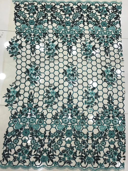 2018 New pattern 5yards/bag   JC09#  Mixed color  Pore shape  sequins  lace fabric for bridal wedding dress/sawing Free shipping