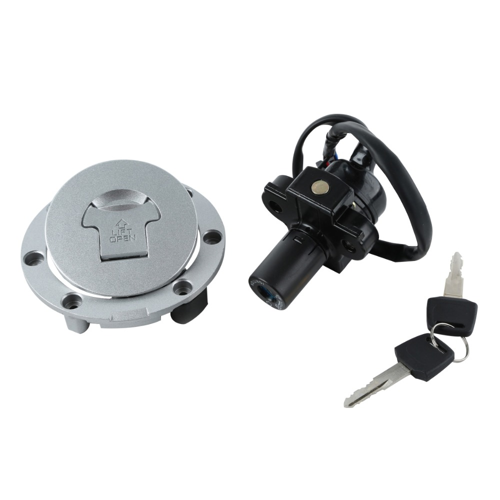 Motorcycle Metal Fuel Gas Tank Cap Cover Lock + Ignition Switch Lock Set For HONDA  CBR250 MC19 MC22 VFR400 NC30 RVF400 NC35 high quality motorcycle parts aluminum alloy gas fuel petrol tank cap cover fuel cap for honda cbr 929 954 rc51 all years