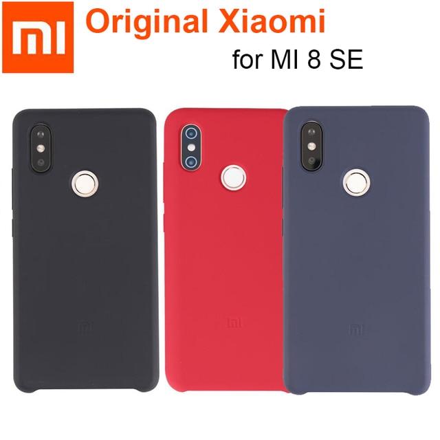 reputable site 71f58 f96ed US $10.22 20% OFF|Aliexpress.com : Buy Official xiaomi mi8 case mi 8 se  cover Nature TPU Silicone Soft Velvet fiber Back cover case for xiaomi mi  8SE ...