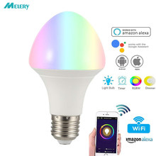 Smart WiFi LED Light Bulb Lamp 7W E26 Multicolor Dimmable 100W Equivalent RGBCW Homekit Work with Amazon Alexa Google Assistant(China)