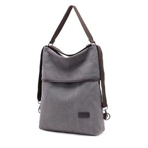 Image 2 - Canvas Bag Tote Bag Bagpack MultiFunction Canvas Back pack Women Sac Bandouliere Femme Bags For Women 2019 Mochila Feminina K042