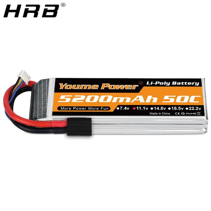 HRB Youme 3S 11.1V 5200mah 50C Lipo