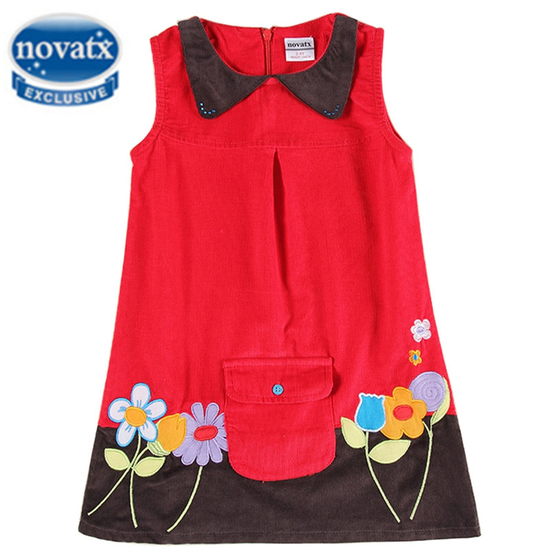 girls dresses summer 2016 girls clothes children dress for girls embrodery flower casual nova kids clothing princess dress H6038