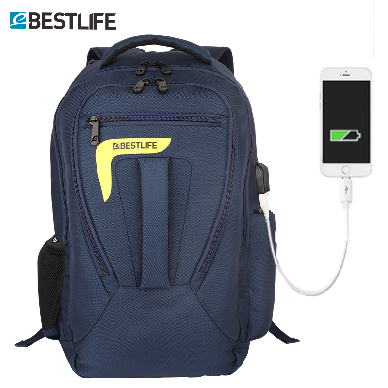 BESTLIFE Brand 15.6 Men Laptop Backpack Large-capacity Backpacks External USB Charge Anti Theft Waterproof Bags mochila escolar quot laptop backpack external usb charge computer backpacks anti theft waterproof bags for men women school large capacity