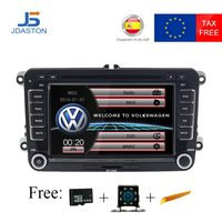JDASTON 2 DIN 7 Inch Car DVD GPS Radio For Skoda Volkswagen VW Passat B6 Polo Golf 4 5 Touran Sharan Jetta Caddy T5 Tiguan Bora