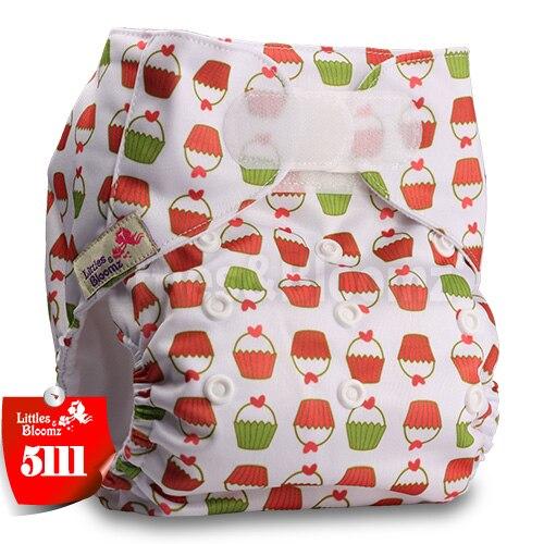 [Littles&Bloomz] Один размер многоразовые тканевые подгузники Моющиеся Водонепроницаемые Детские карманные подгузники стандартная застежка на липучке - Цвет: 5111
