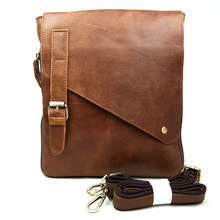 Wholesale new leather man bag men's casual shoulder bag first layer of leather Messenger bag tide