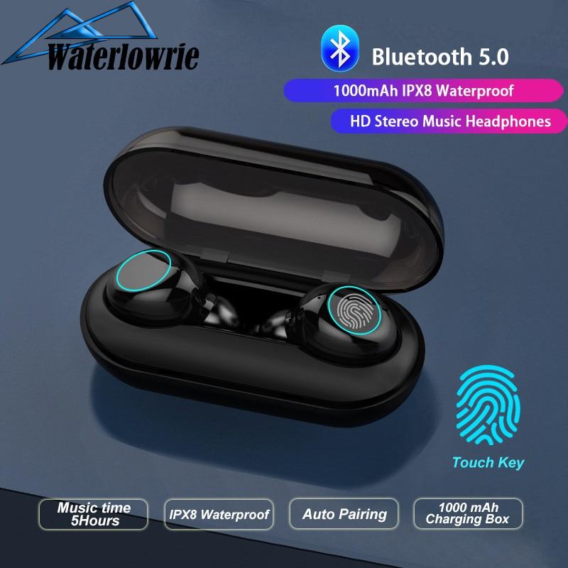 Bluetooth 5.0 HD Stereo Music Earphones TWS Wireless Blutooth Earphone IPX8 Waterproof Earplugs Sports Earbuds Gaming Headset