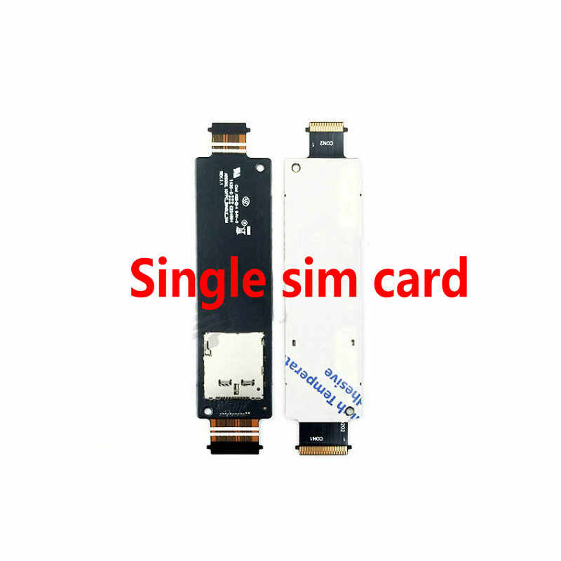 100% المزدوج سيم فليكس كابلات لابتوب اسيوس Zenfone 5 سيم قارئ بطاقات فتحة استبدال A500CG A501CG T00J