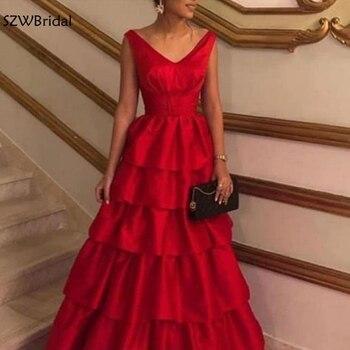 Elegant A-Line evening dresses long Red ever pretty abendkleider 2020 Robe de soiree Formal dress Party vestido de festa longo