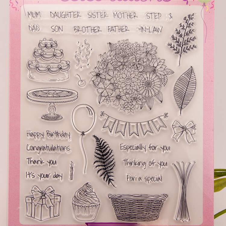 Flower Gift Clear stamp Scrapbook DIY photo cards account rubber stamps clear transparent seal handwork art school Kid gift bird cage swallows scrapbook diy photo cards account rubber stamp clear stamp transparent handwork art seal school kid gift