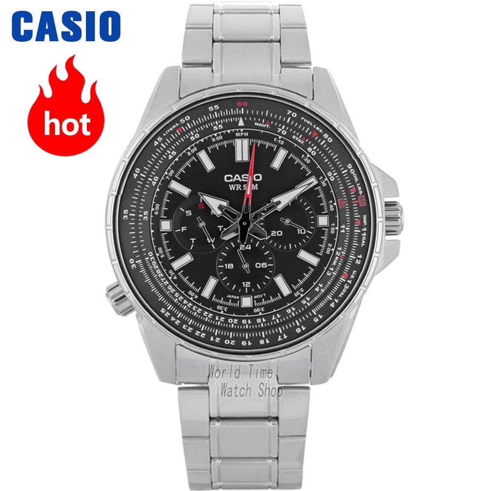 CASIO Часы мужской Casio модные три глаза Бизнес Повседневная Водонепроницаемая кварцевые мужские часы MTP-SW320D-1A MTP-320D-7A MTP-SW320L-7A