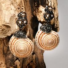 Party-Earring Statement Geometric Natural-Shell Pearl Elegant Women Fashion Moon-Girl